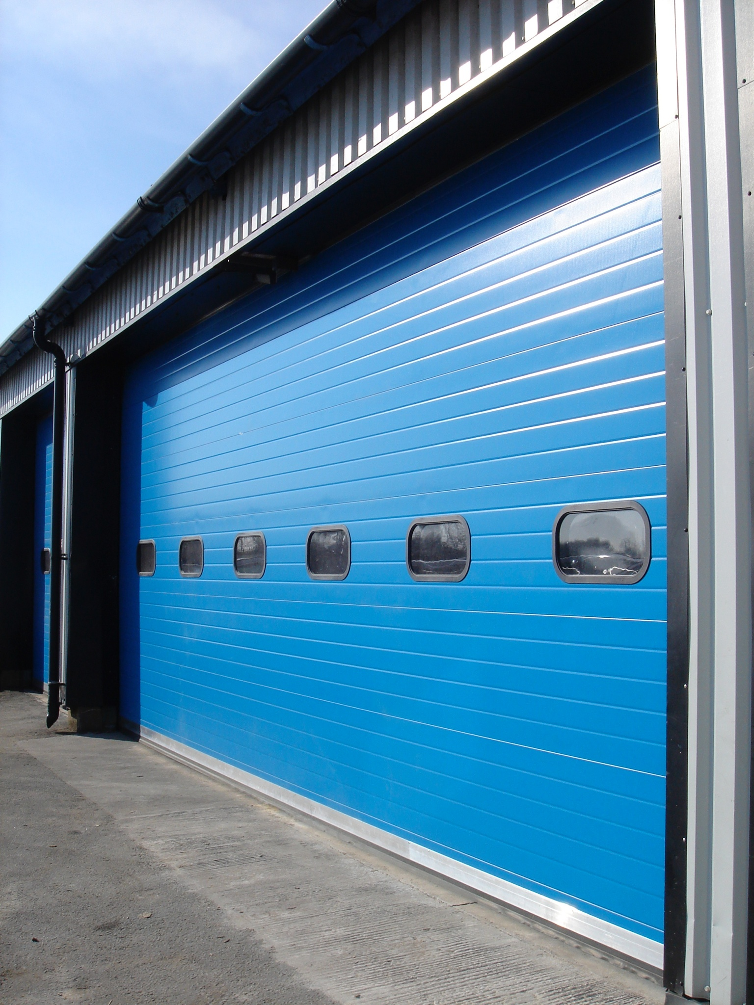 Sectional Overhead Door blue